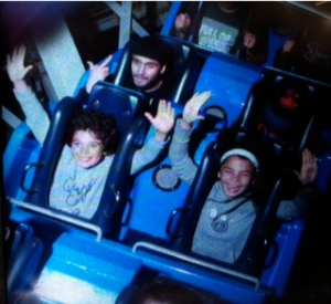 You must meet a height requirement but you don't need to know American Sign Language on this ride.  (demonstrated by rude guy sitting behind my children)