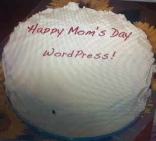 Both Mom and WordPress will make you feel guilty that this cake is not very creative!