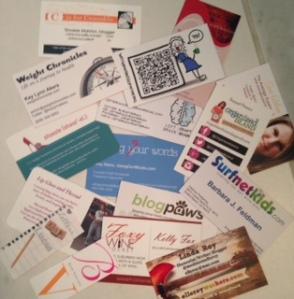 Everyone else had nice, classy blog biz cards.