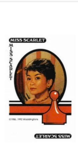 "Miss Scarlet Nowadays??  Oh No!  Looks like my Mother got to Miss Scarlet and chopped her hair off.  Because she thinks ""Women over 40 must have short hair.""  What do you think??"