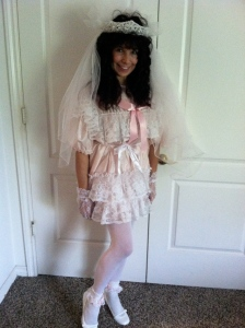 What a difference a veil can make - - instant Child Bride!