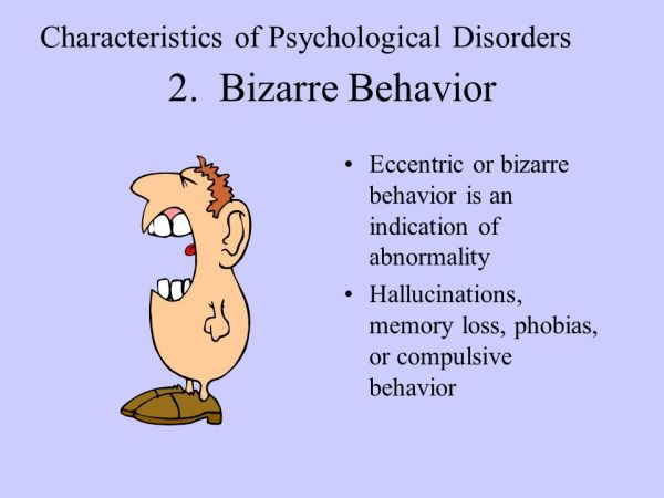 2.+Bizarre+Behavior+Characteristics+of+Psychological+Disorders